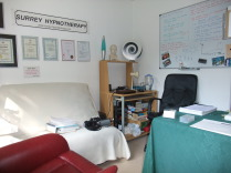 Photo of the Surrey Hypnotherapy Clinic consulting room